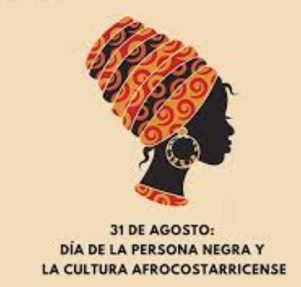 """Webinar """"31 de agosto: Día de la Persona Negra y la Cultura Afrocostarricense""""."""