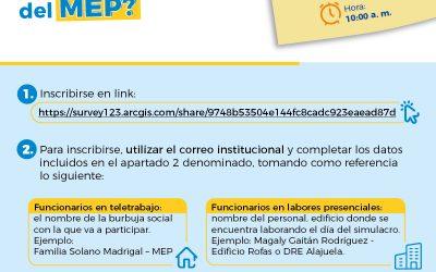 Simulacro Virtual de Evacuación ¿Cómo participar si soy funcionario del MEP?